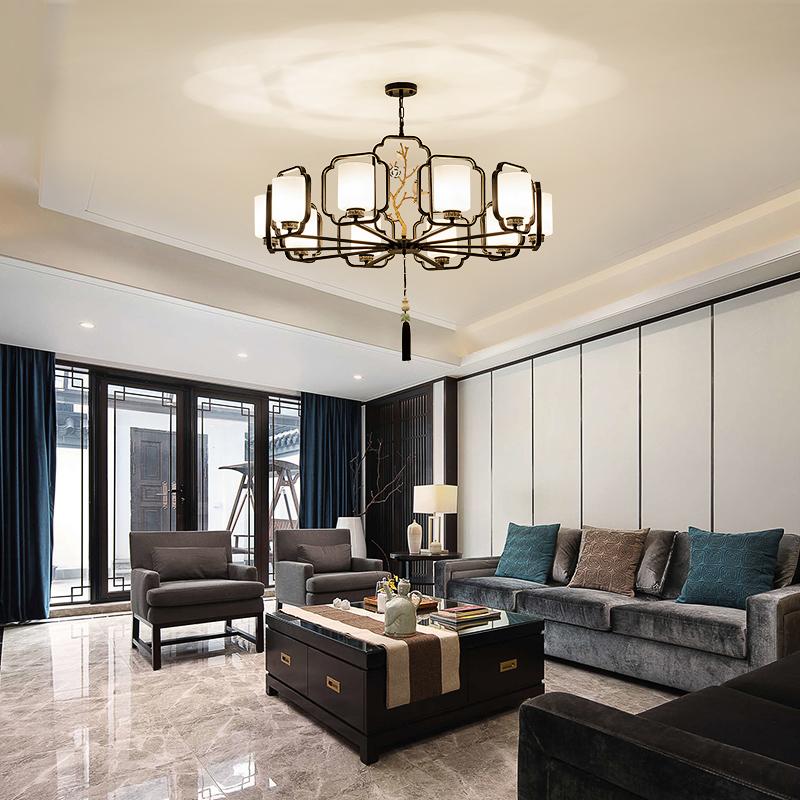 新中式吊灯客厅小鸟个性复古餐厅现代简约卧室中国风大气书房灯具-依维特旗舰店