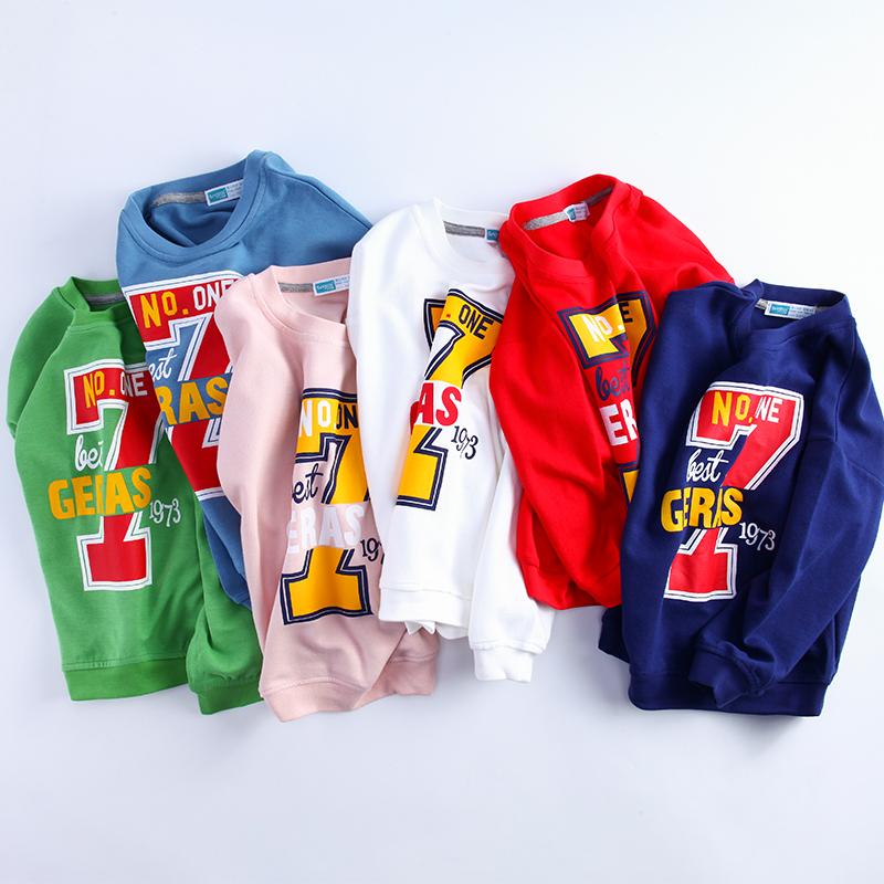 儿童装套头衫童装男童卫衣中大童新款春秋装韩版休闲儿童运动上衣