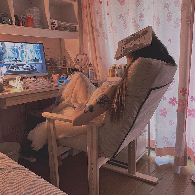 懒人单人沙发卧室房间电脑沙发椅宿舍懒人椅家用椅子休闲阳台躺椅