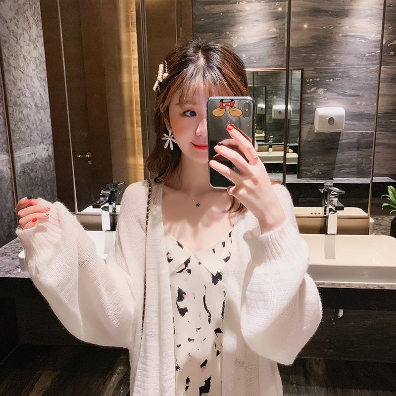 薄款夏季防晒衫镂空针织外套女春装2019新款宽松中长款很仙的开衫