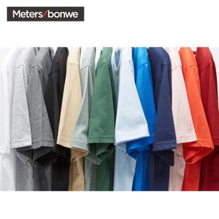 美特斯邦威T恤男短袖夏季男装纯棉衣服男士宽松休闲黑白色打底衫