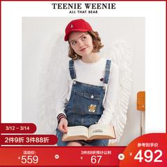 TeenieWeenie小熊背带牛仔裙连衣裙女休闲时尚2020春季通勤简约