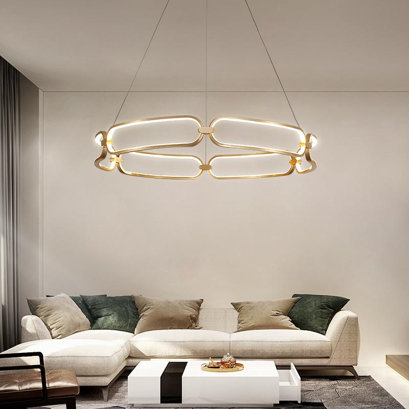 客厅灯北欧创意个性卧室灯设计师后现代轻奢灯具现代简约餐厅吊灯-给亮旗舰店