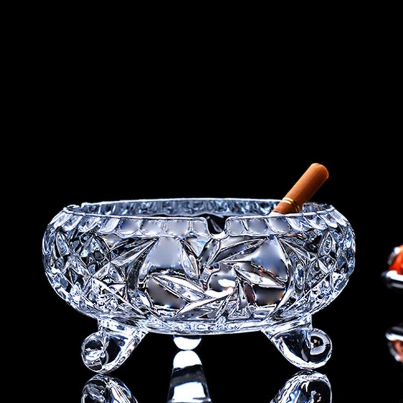 欧式水晶玻璃烟灰缸 家用创意时尚客厅客房办公室ktv大号小号烟缸