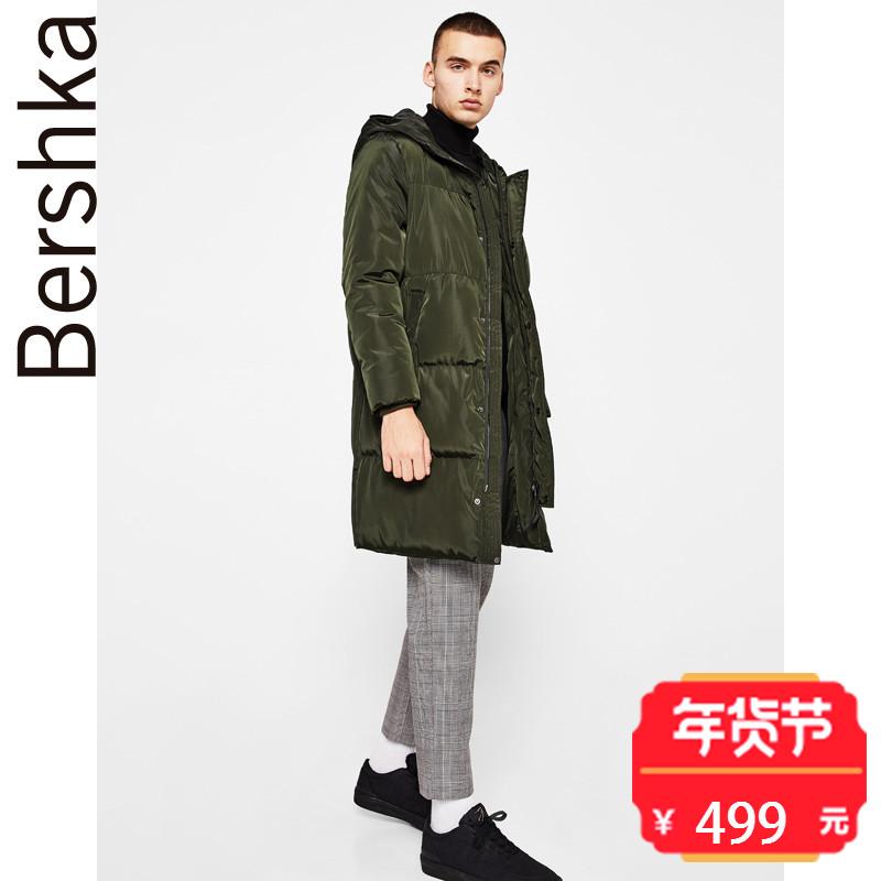 Bershka 男士 亚洲限定2018春季新款面包服棉衣外套 06558111505