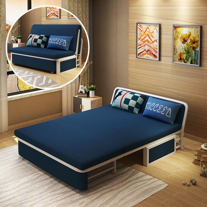 可折叠沙发床客厅小户型1.2/1.5米实木双人两用 省空间沙发