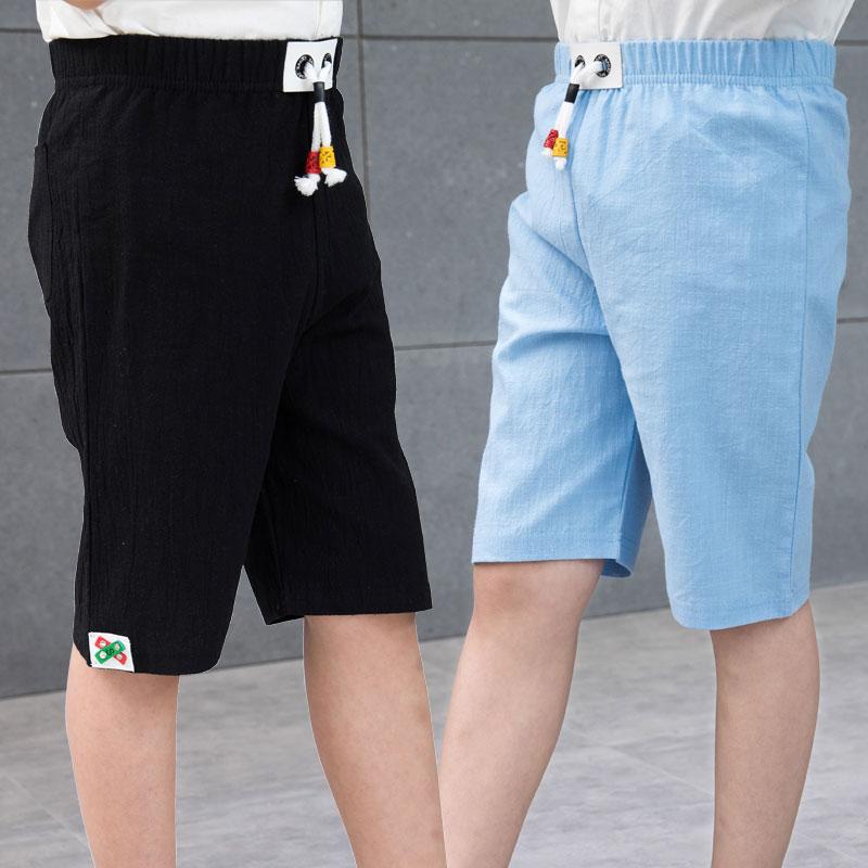 童装夏装儿童短裤男童棉麻宝宝中裤女童裤子五分裤小孩热裤沙滩裤