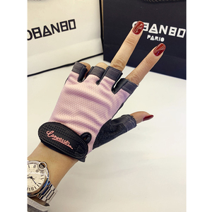 Fitness gloves half-finger sports men and women summer thin anti-cocoon wear-resistant equipment training yoga bicycle cymbals iron riding