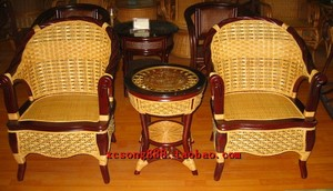 Residential furniture factory direct sales rattan furniture / rattan sofa / rattan rattan chair / Indonesian rattan rattan Miki