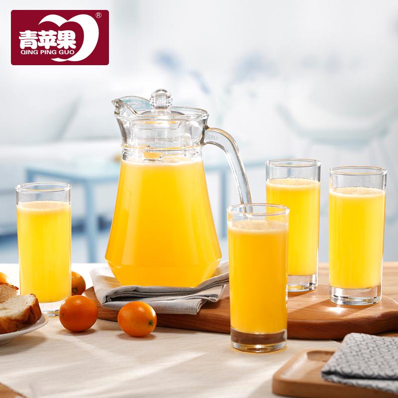 青苹果家用冷水壶玻璃凉开水水壶大容量饮料果汁啤酒扎壶水杯包邮