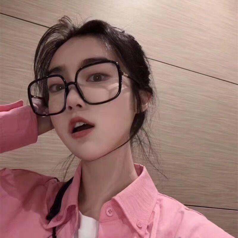 [¥14.9]超大黑框粗框眼镜女ins网红素颜懒人装饰镜韩版显瘦配近视眼镜框