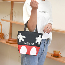 女包帆布手拎yo3加厚防水2b咪休闲(小)布包手提简约午餐饭盒包