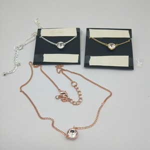 Qingdao jewelry 18K real gold plating Swarovski Copper marking G ** exquisite fashion simple necklace