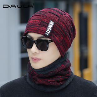 帽子男士冬天加绒毛线帽韩版保