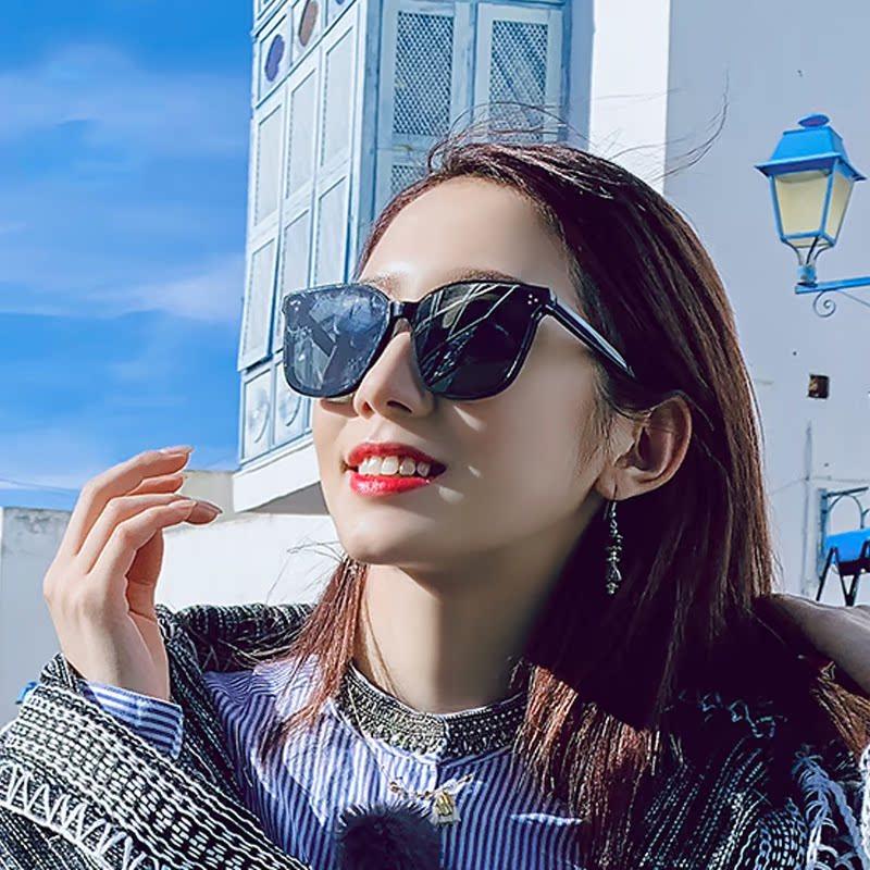 GM墨镜jackbye新款李易峰同款V牌方形瘦脸抖音网红防紫外线太阳镜
