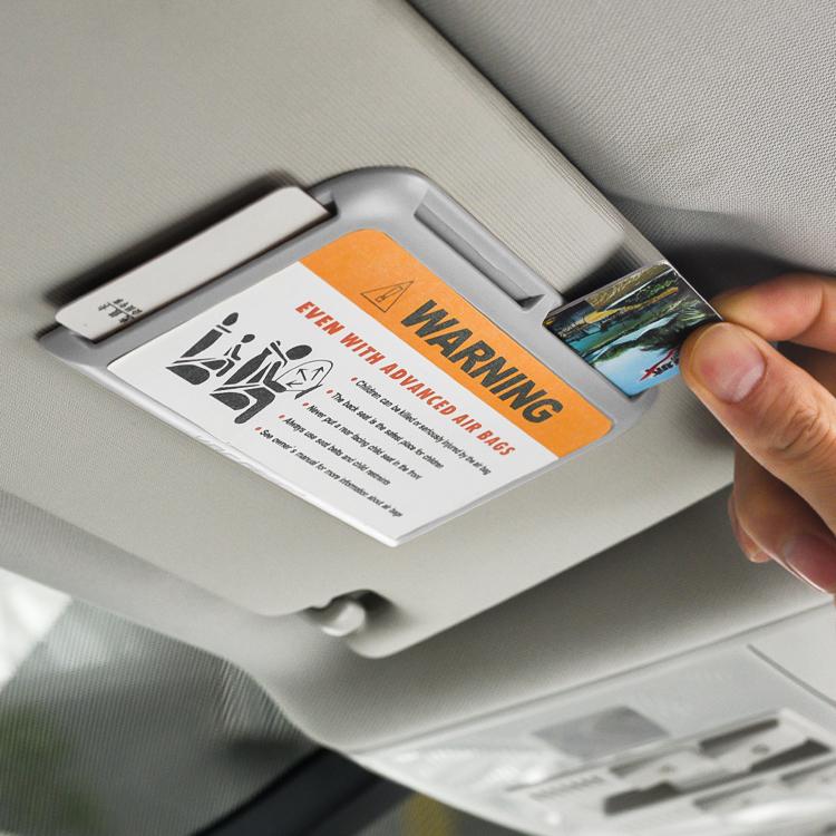 汽车遮阳板收纳袋多功能车载卡票据夹手机盒车用证件包置物停车牌满9元减1元