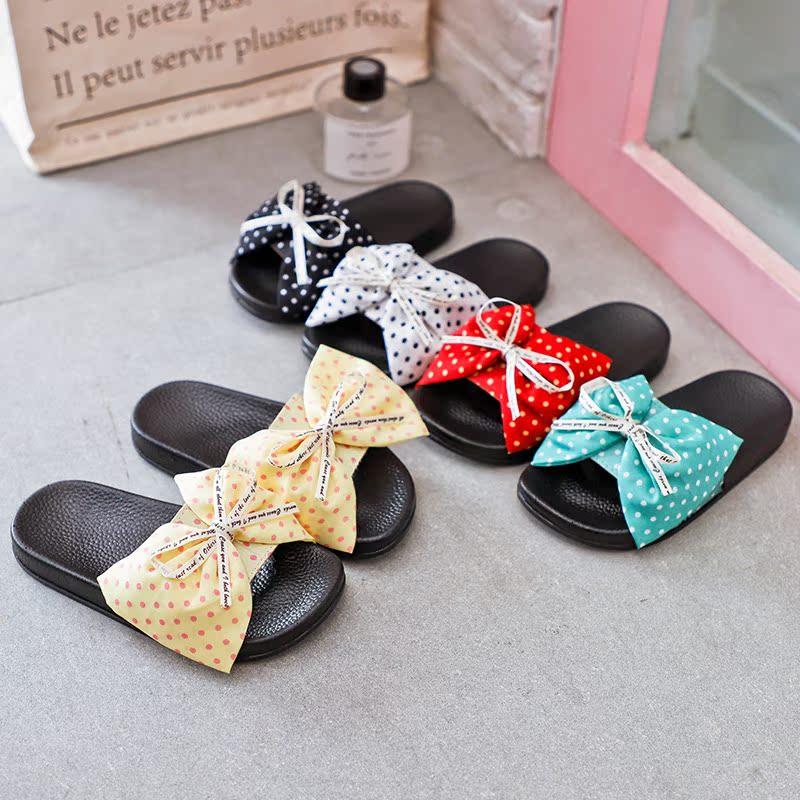 2019新款夏女童拖鞋可爱时尚外穿斑点儿童宝宝防滑凉拖小孩公主韩