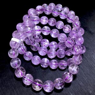 天然紫锂辉石手链男女冰种薰衣草紫锂辉水晶皇后手串强光猫眼单珠图片
