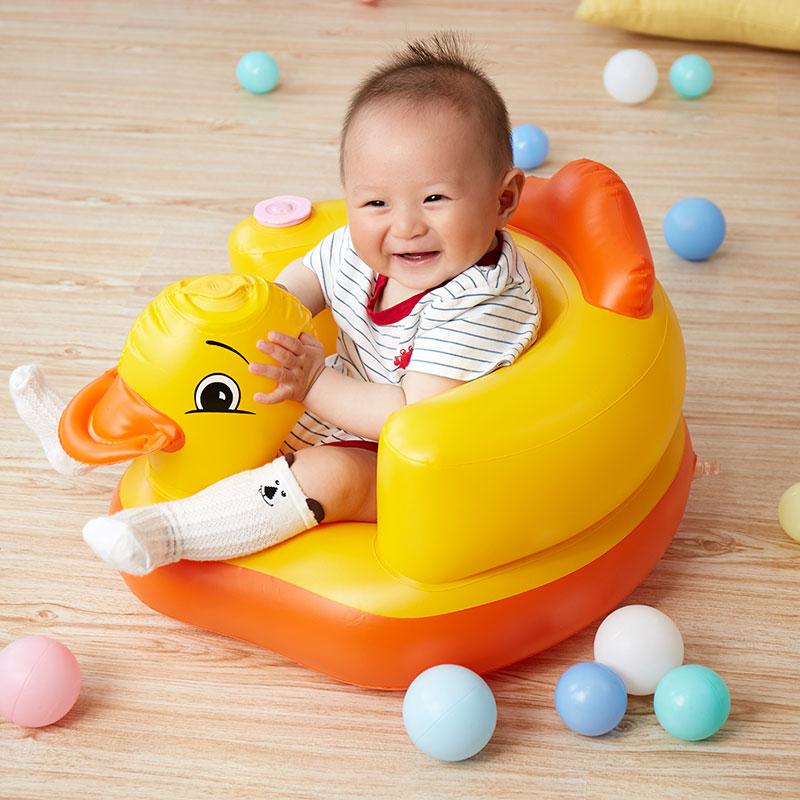 【特价】宝宝学座椅儿童充气小沙发婴儿音乐坐椅便携式餐椅浴凳满20元减5元