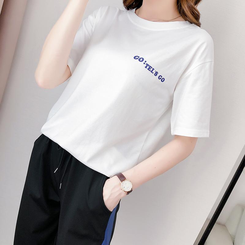 311#【实拍】t恤女夏2020年新款短袖夏季上衣ins潮韩版宽松衣服 -