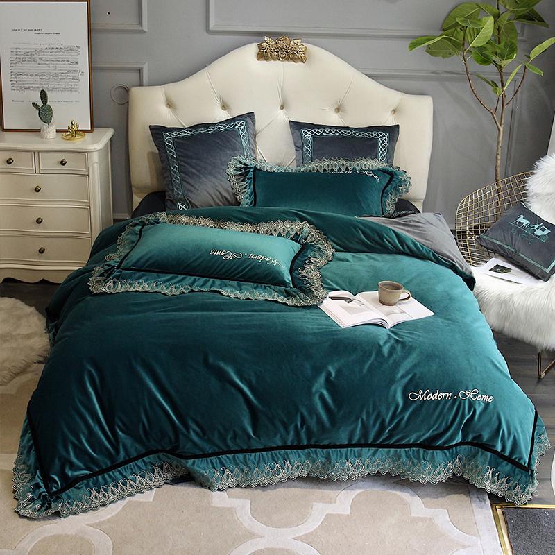 加厚珊瑚绒床上四件套冬季保暖法兰绒被套双面绒宝宝绒床单水晶绒-馨漫轻奢 外贸家居