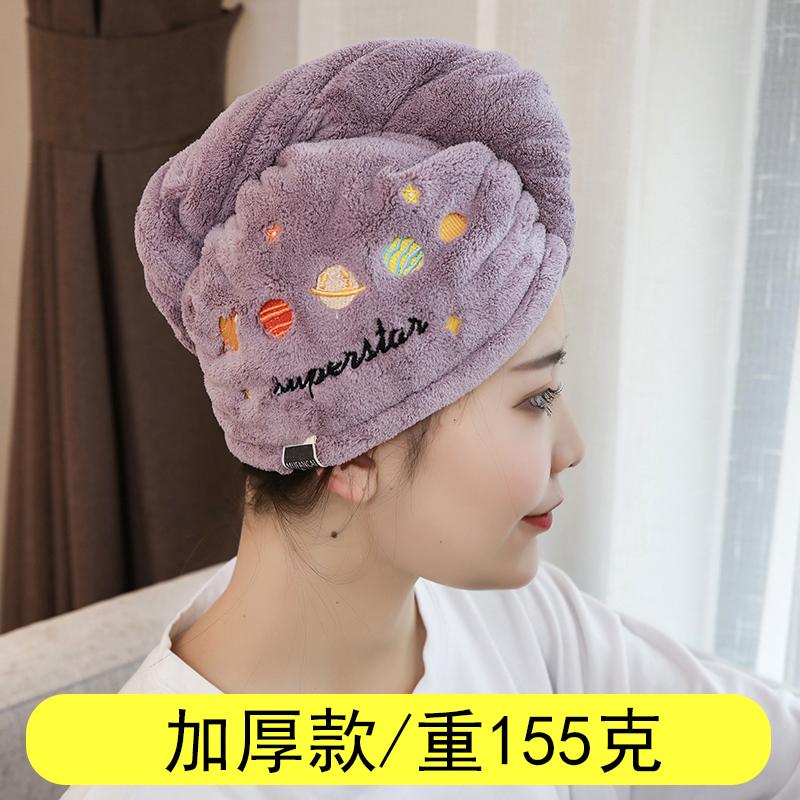 加厚干发帽女超强吸水速干包头巾网红神器擦长发毛巾洗澡可爱浴帽