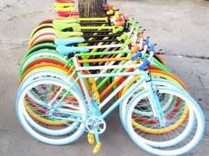 Dead fly bike male models with brake handbrake men's students 26 inch fluorescent color reverse riding live flying bicycles