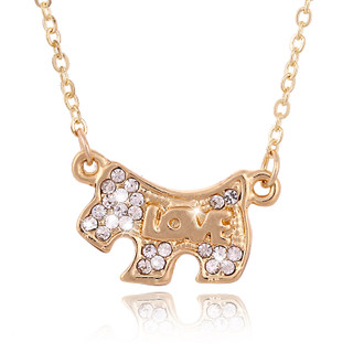 K156 good authentic Korea Korean fashion jewelry birthday gifts dog necklace chain of clavicle to send female