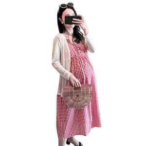 Pregnant women summer suit fashion models 2018 new two-piece dress skirt loose large size summer pregnant women dress