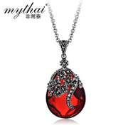 Thai Thai silver jewelry 925 Silver love pendant hanging red zircon hanging products