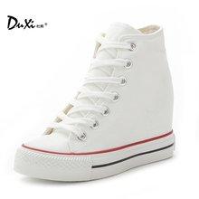 内8厘米帆bi2鞋女鞋高en韩款女士百搭学生休闲(小)白鞋子