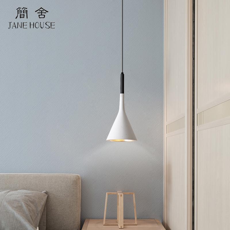 北欧床头吊灯创意餐厅吧台灯简约现代卧室灯个性设计师单头小灯具-简舍Jane House艺术灯饰