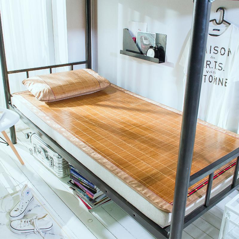 凉席大学生宿舍0.9m单人床1米冰丝席1.2寝室0.8夏季草席子1.5竹席