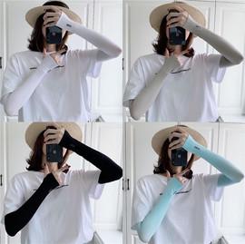 夏季冰防晒手袖护臂女手臂套袖袖子开车防紫外线冰丝手套男薄款