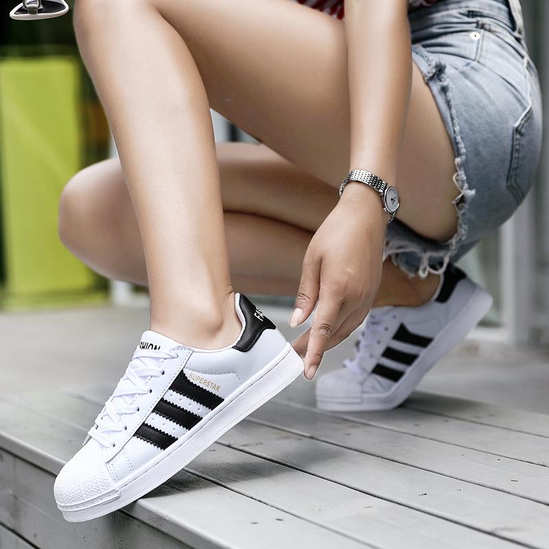 贝壳头板鞋女韩版潮鞋2018夏季新款情侣小白鞋透