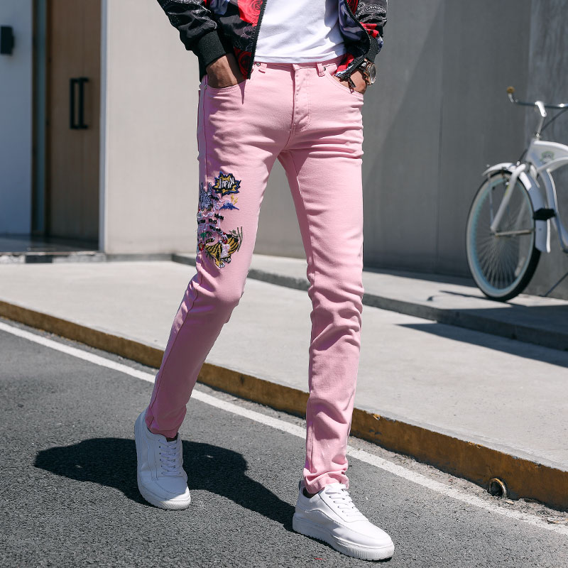 男士2020新品 牛仔裤小脚裤修身直筒潮流弹力秋季牛仔裤k328p95