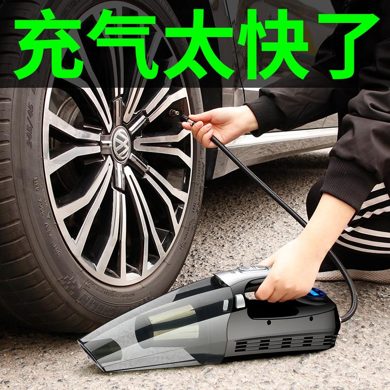 车载充气泵小轿车便携式汽车多功能吸尘器轮胎加气泵车用打气筒图片