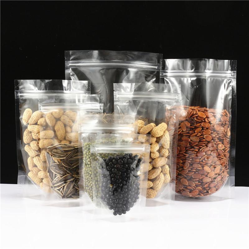 通用高清透明自立袋自封袋瓜子休闲食品干果零食干货包装袋密封袋