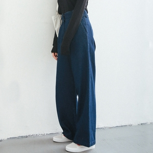 Danny Home 2020 Spring Korean Loose Chic Mopping Trousers High Waist College Wind Wide Leg Pants Jeans Women