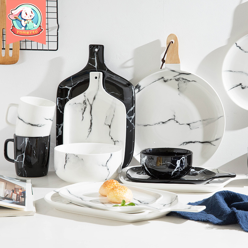 网红北欧餐具套装碗盘创意家用ins盘子一人食碗碟单人欧式个性碗-yomerto旗舰店-12月