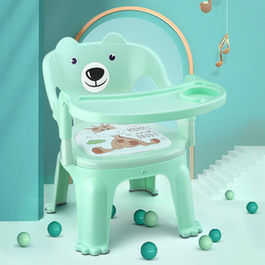 Children's dining chair with dinner plate baby dining table called chair baby chair dining table back learn sit plastic stool