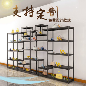 Shoe store shoe rack display shelf shopping mall multi-layer free combination open shop creative floor bag shelf