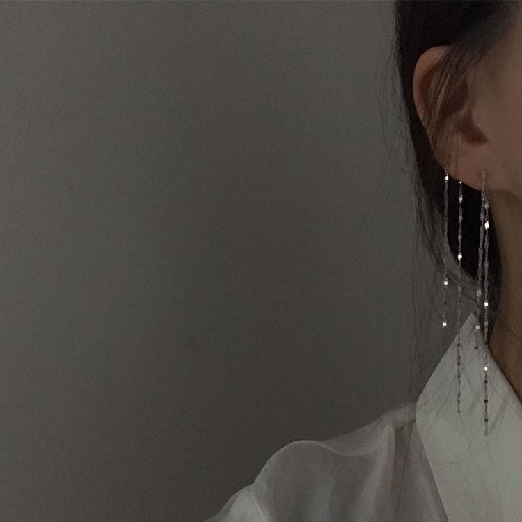 甜酸一款两戴耳饰超仙长流苏925银针耳坠女气质韩国简约百搭耳环