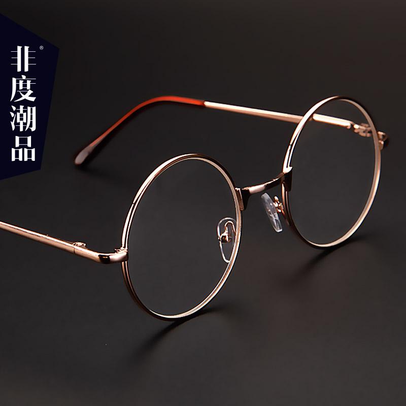 个性圆框老光眼镜超轻时尚女老花镜男复古圆形民国文艺太子镜舒适