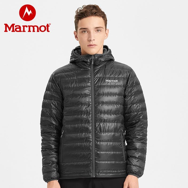 marmot/土拨鼠秋冬新款户外拒水轻薄透气700蓬鹅绒男士羽绒服衣