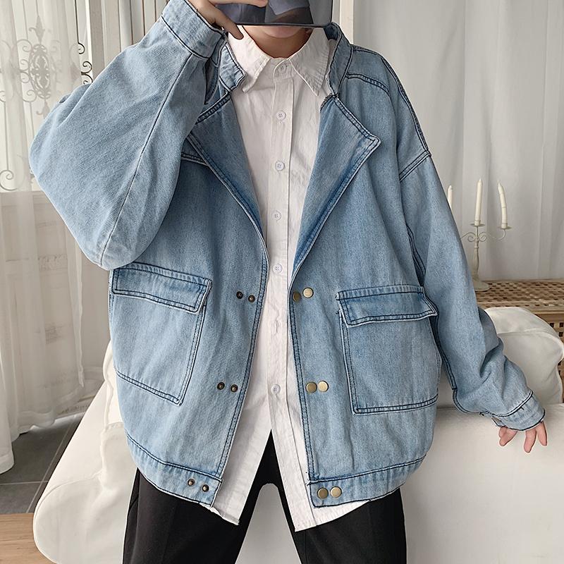 2019秋冬新款港风牛仔衣休闲韩版夹克潮流外套男604-JK1910-P60