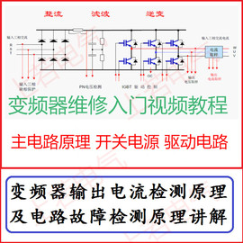 变频器维修视频教程主回路驱动电路开关电源控制电路原理分析讲解