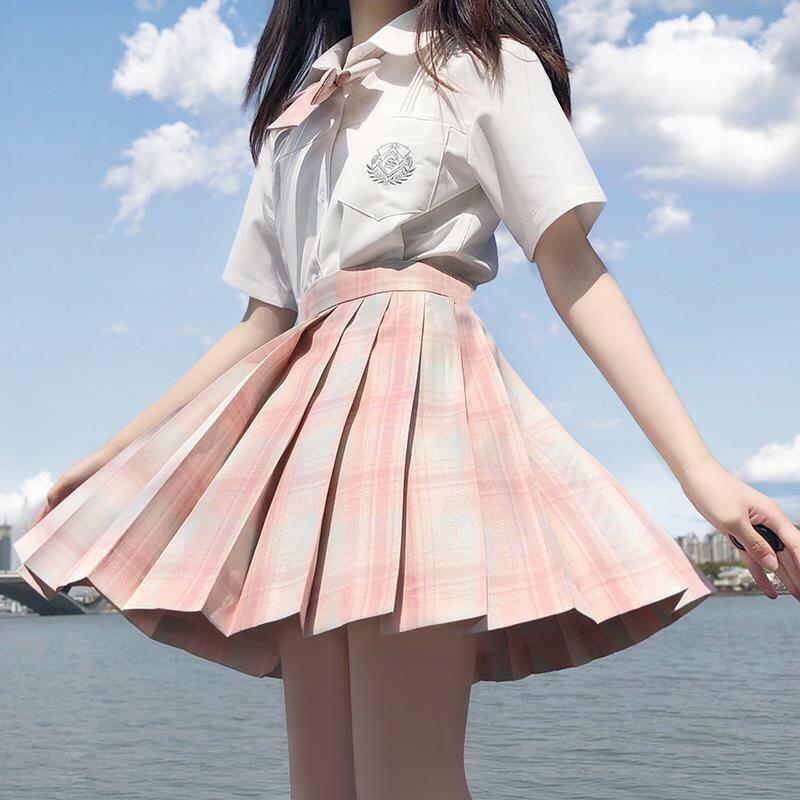 jk制服正版学院风日系套装女夏全套2020年新款衬衫百褶短裙两件套
