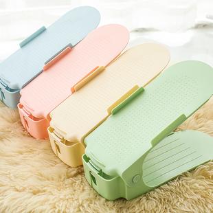 10个装家居用品北欧式双层可调节鞋托架收纳鞋架简易双层塑料鞋