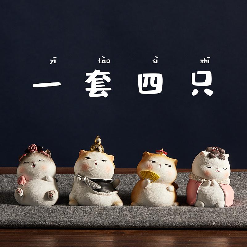 猫咪盲盒日系猫盒蛋恋爱扭扭蛋摆件玩具食玩迷你小公仔生日礼物女
